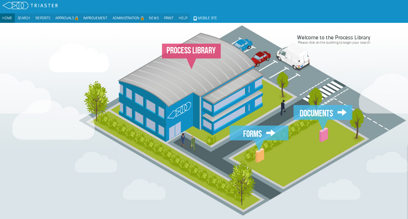 Triaster Process Library
