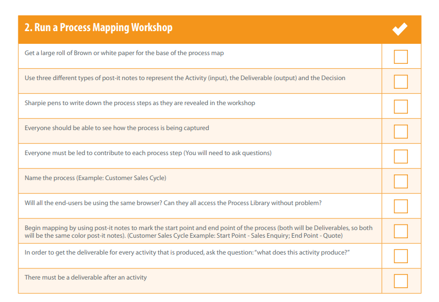 Run a process mapping workshop